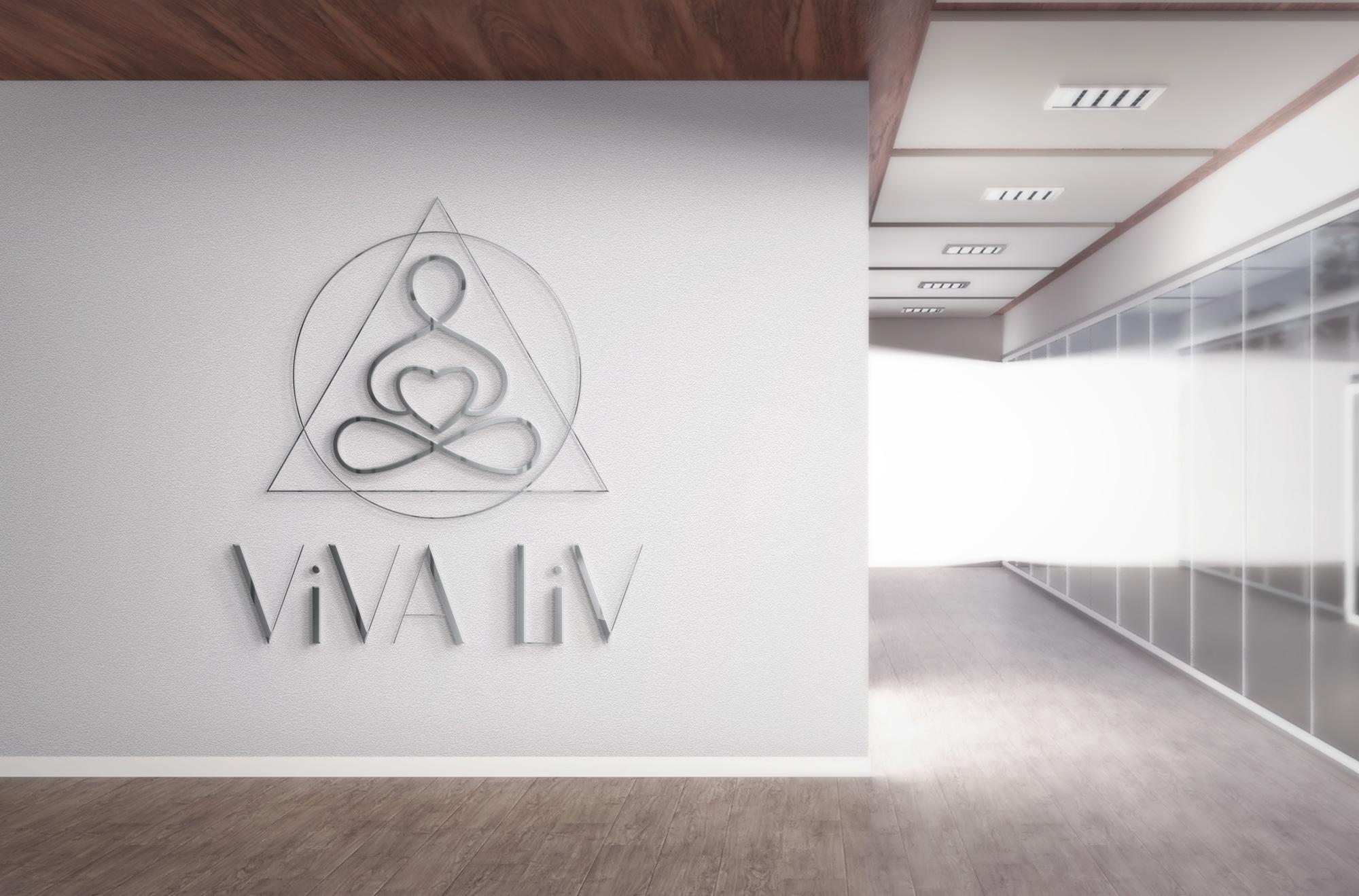 разработка логотипа йога