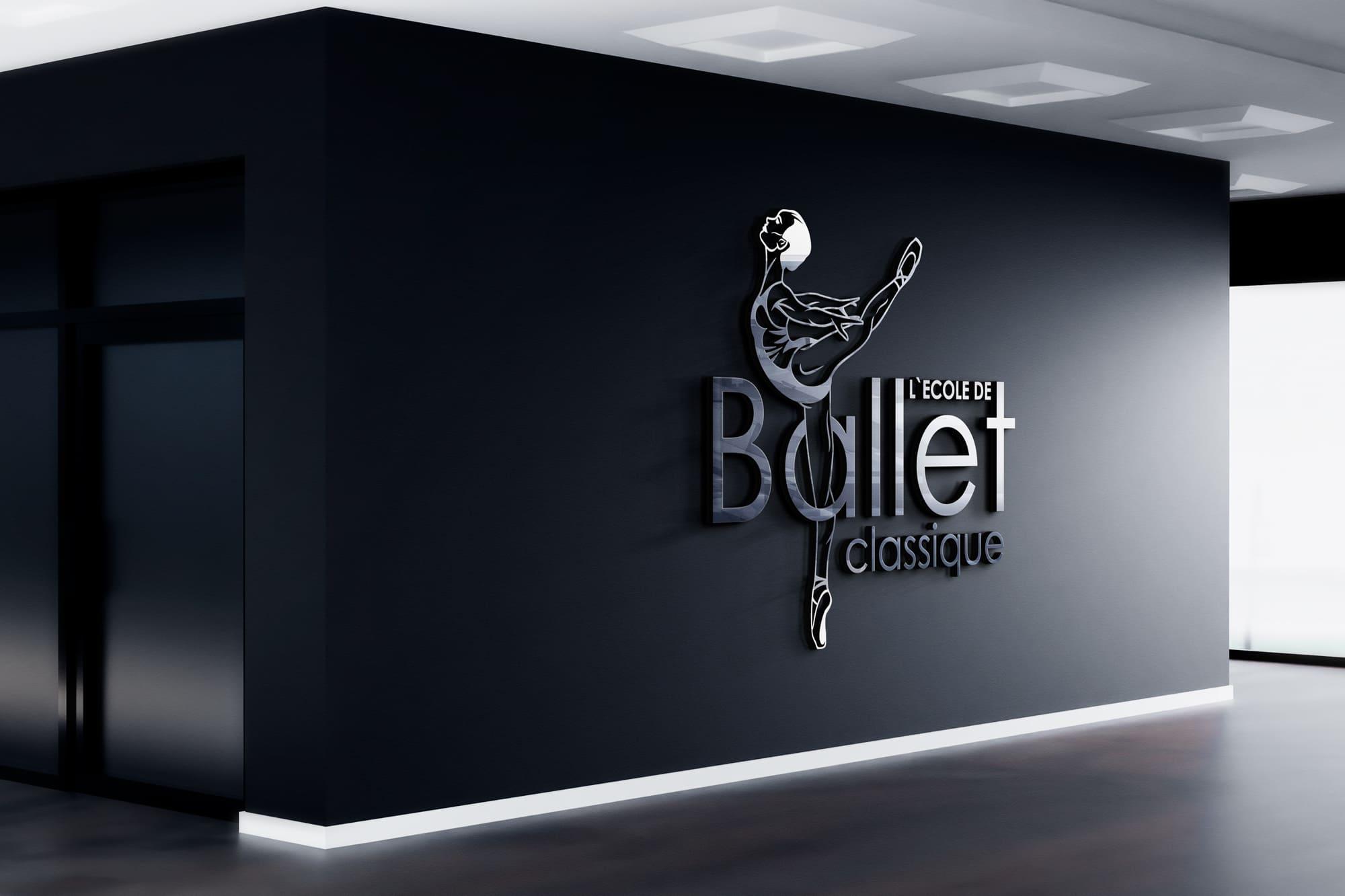 логотип балетной студии школы