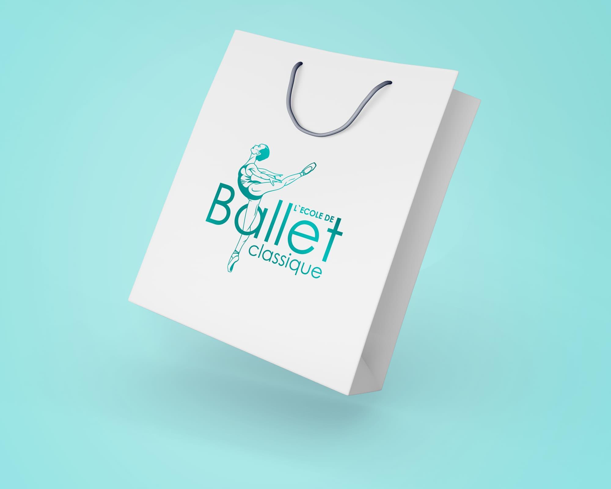 логотип балетной школы на пакете