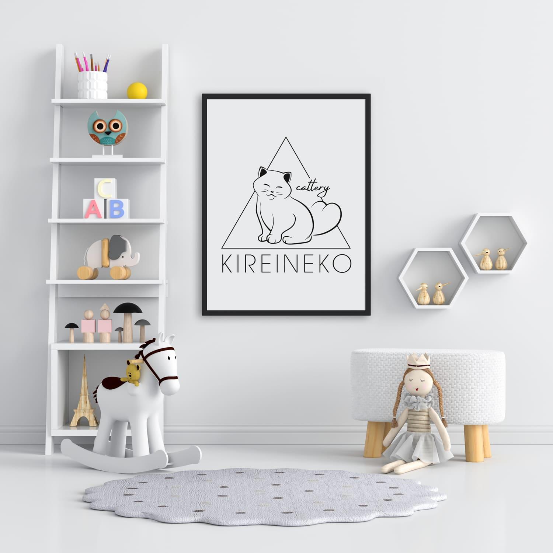 разработка логотипа для питомника кошек