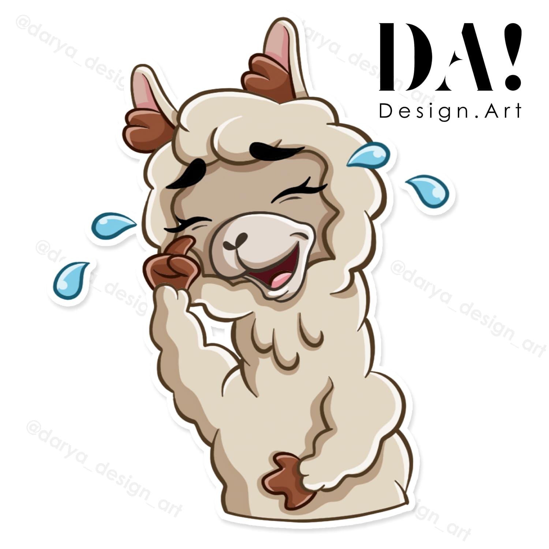стикерпак альпака лама на заказ