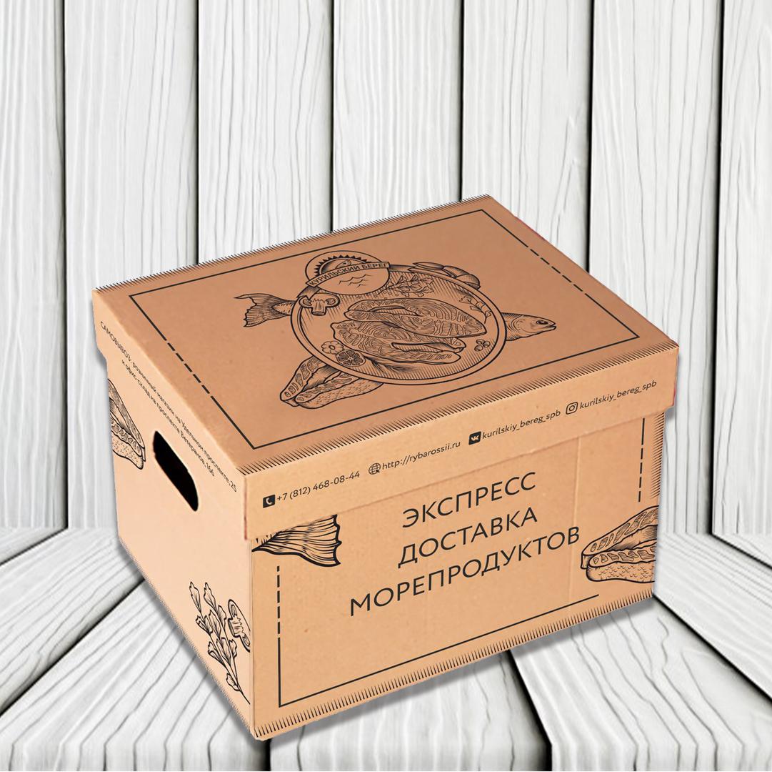 дизайн упаковки доставка морепродуктов