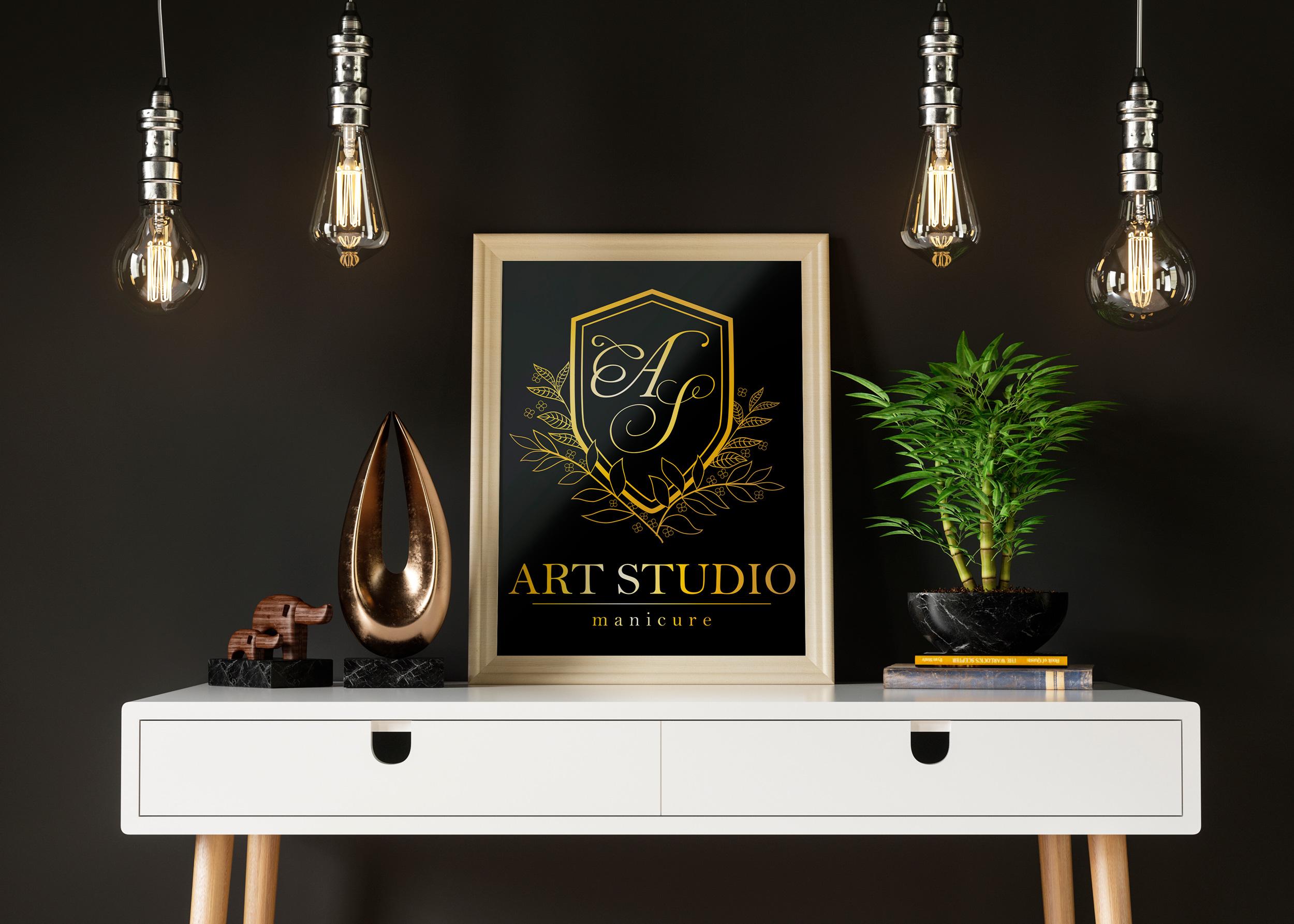логотип Арт Студио для салона красоты