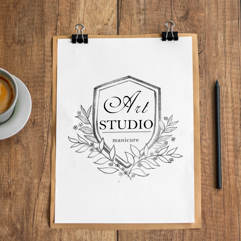 эскизы логотипа с лавровым листом