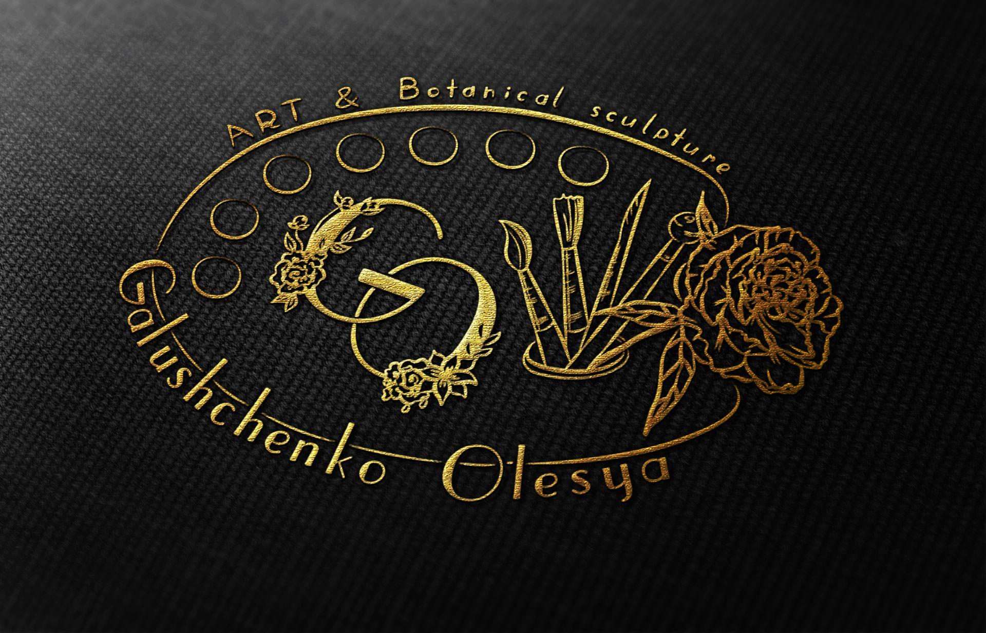 золотая вышивка логотипа мастера холодный фарфор