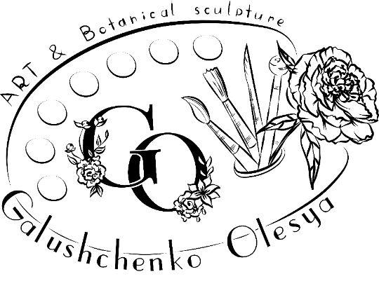 логотип мастера лепки цветов холодный фарфор