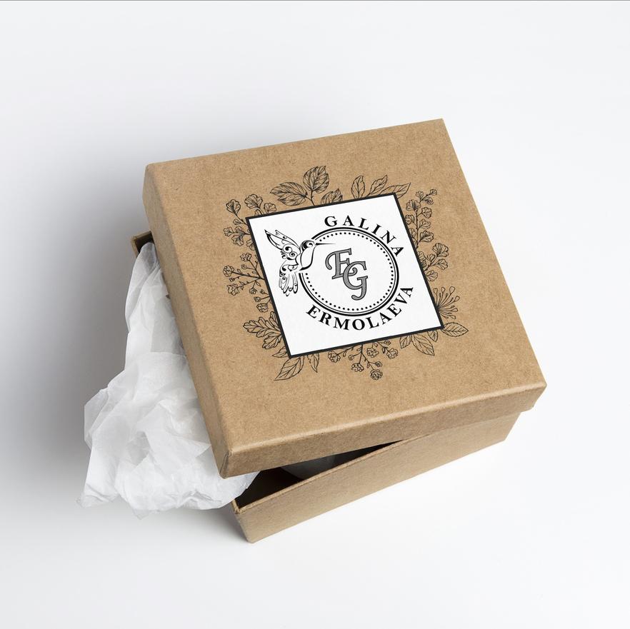 именной логотип и дизайн упаковки коробки