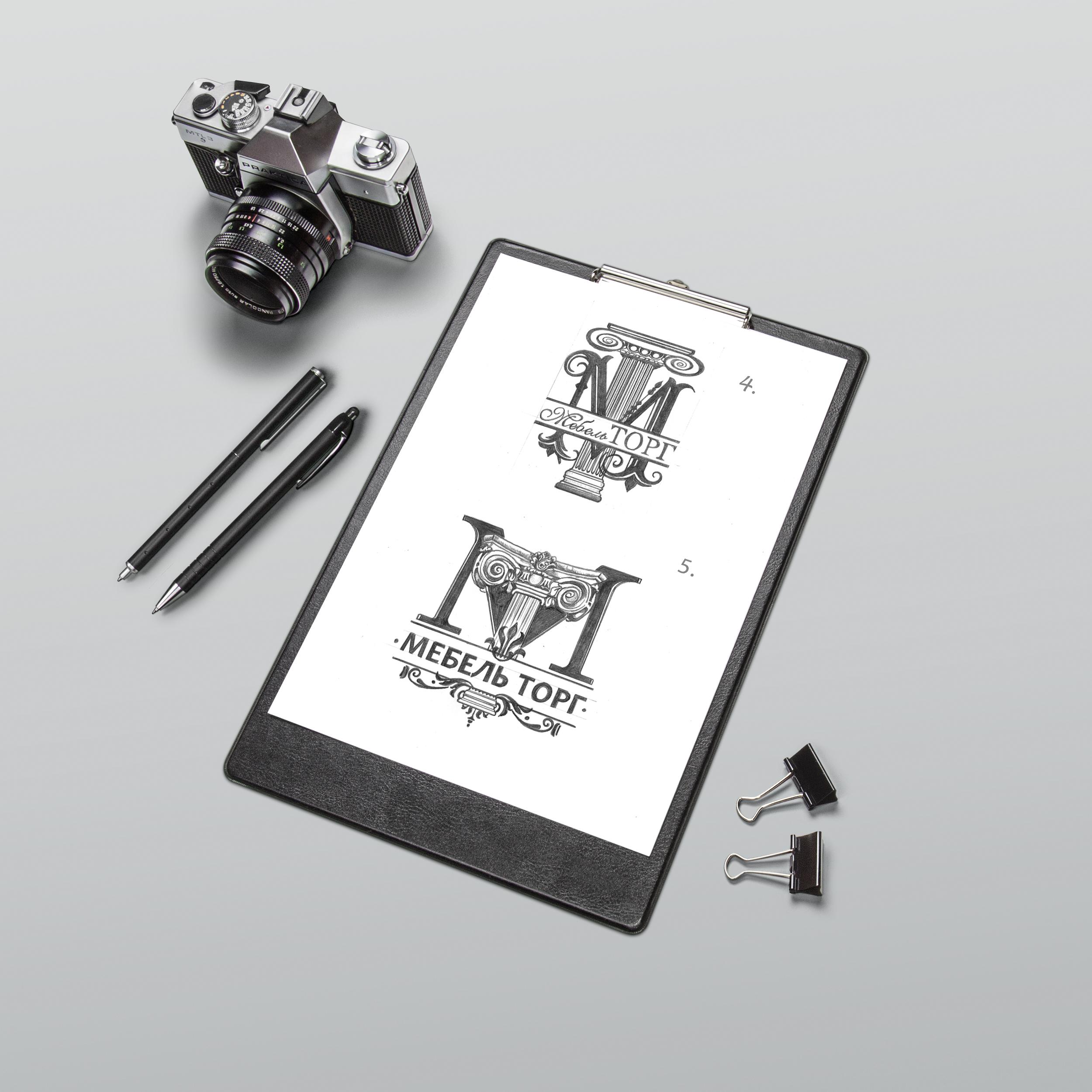 эскизы логотипа мебельной компании