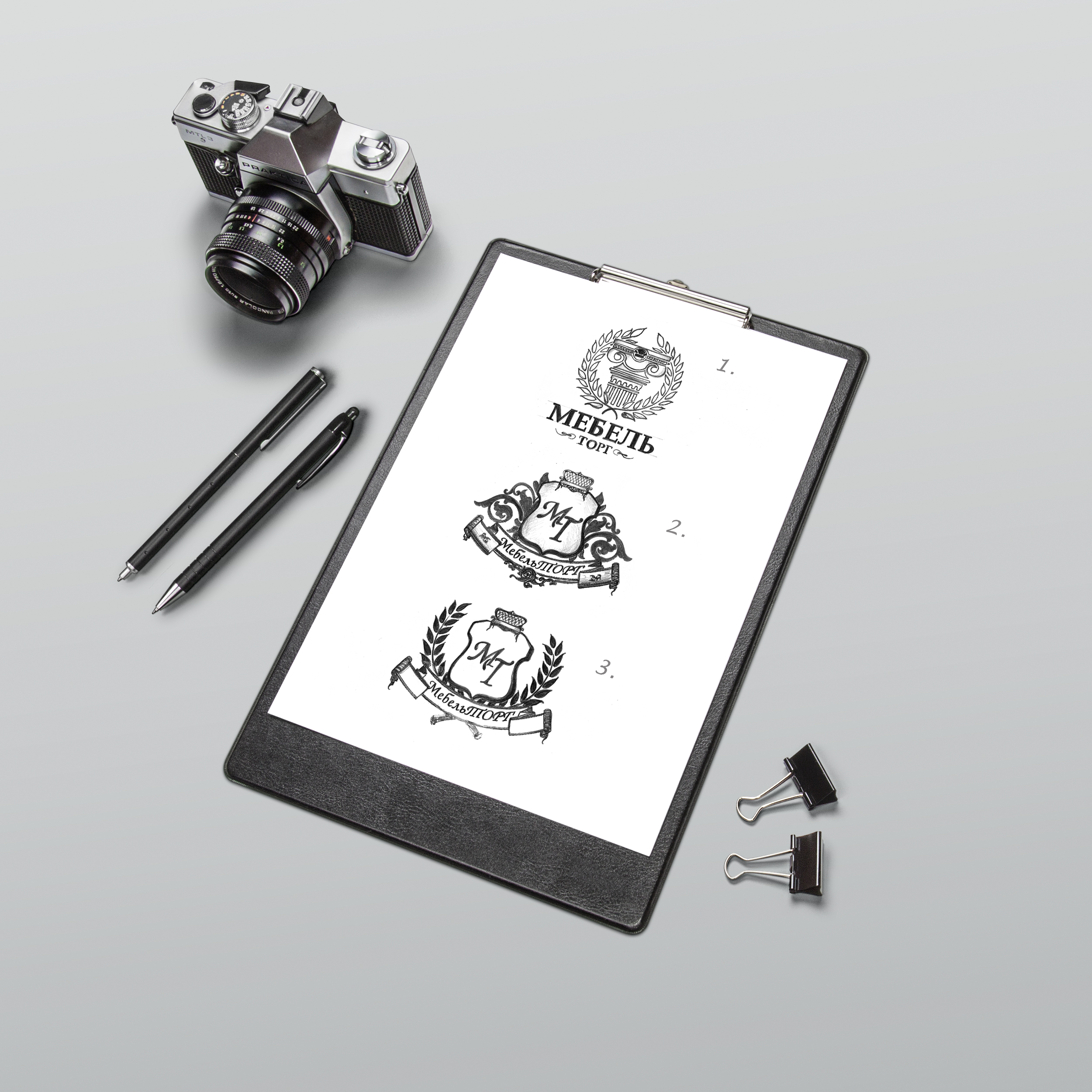эскизы логотипа карандашом на заказ