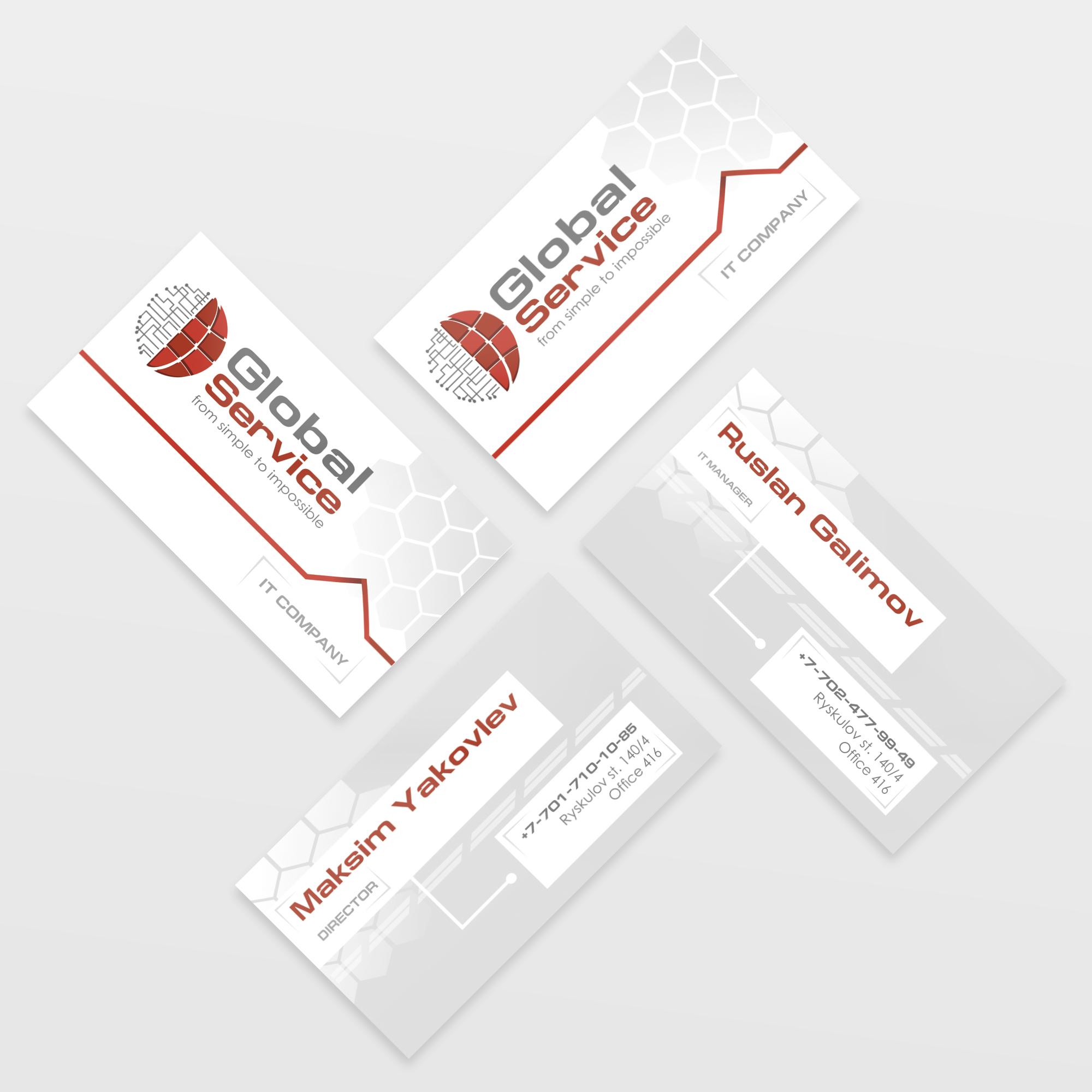 фирменные визитки дизайн заказать