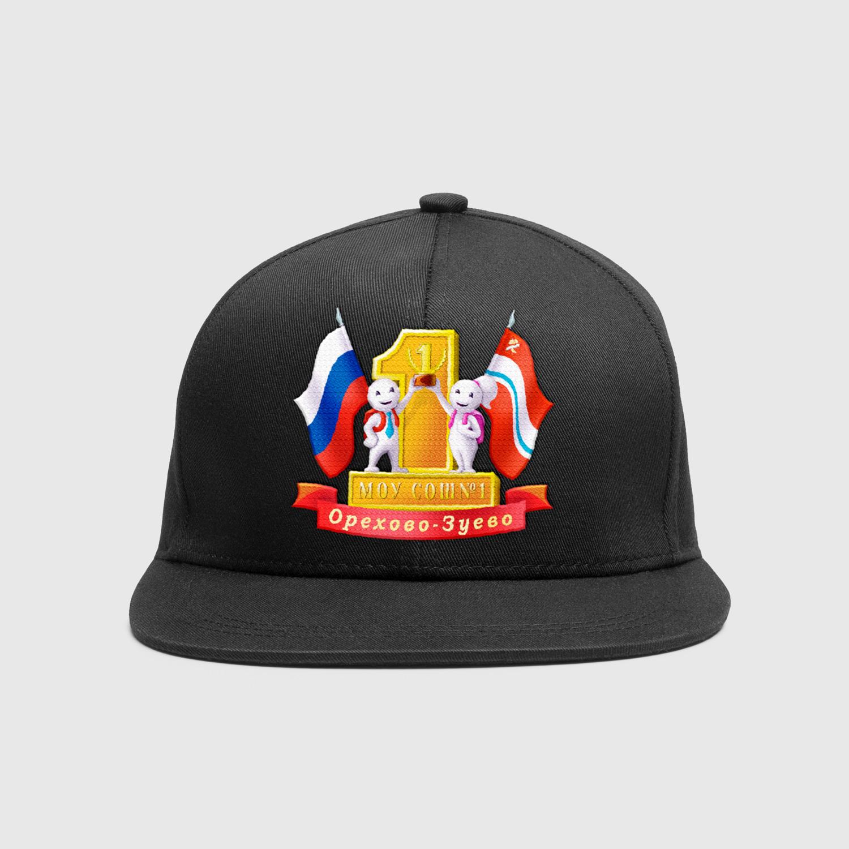 логотип школы на кепке