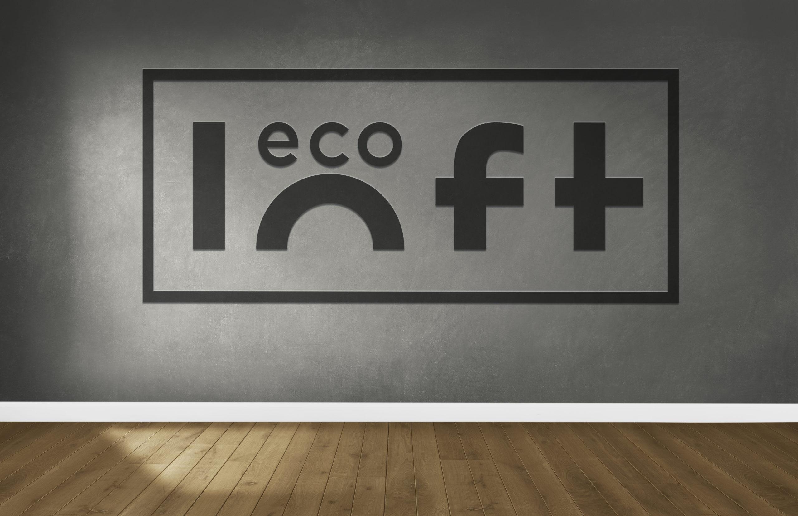логотип на стене эко лофт