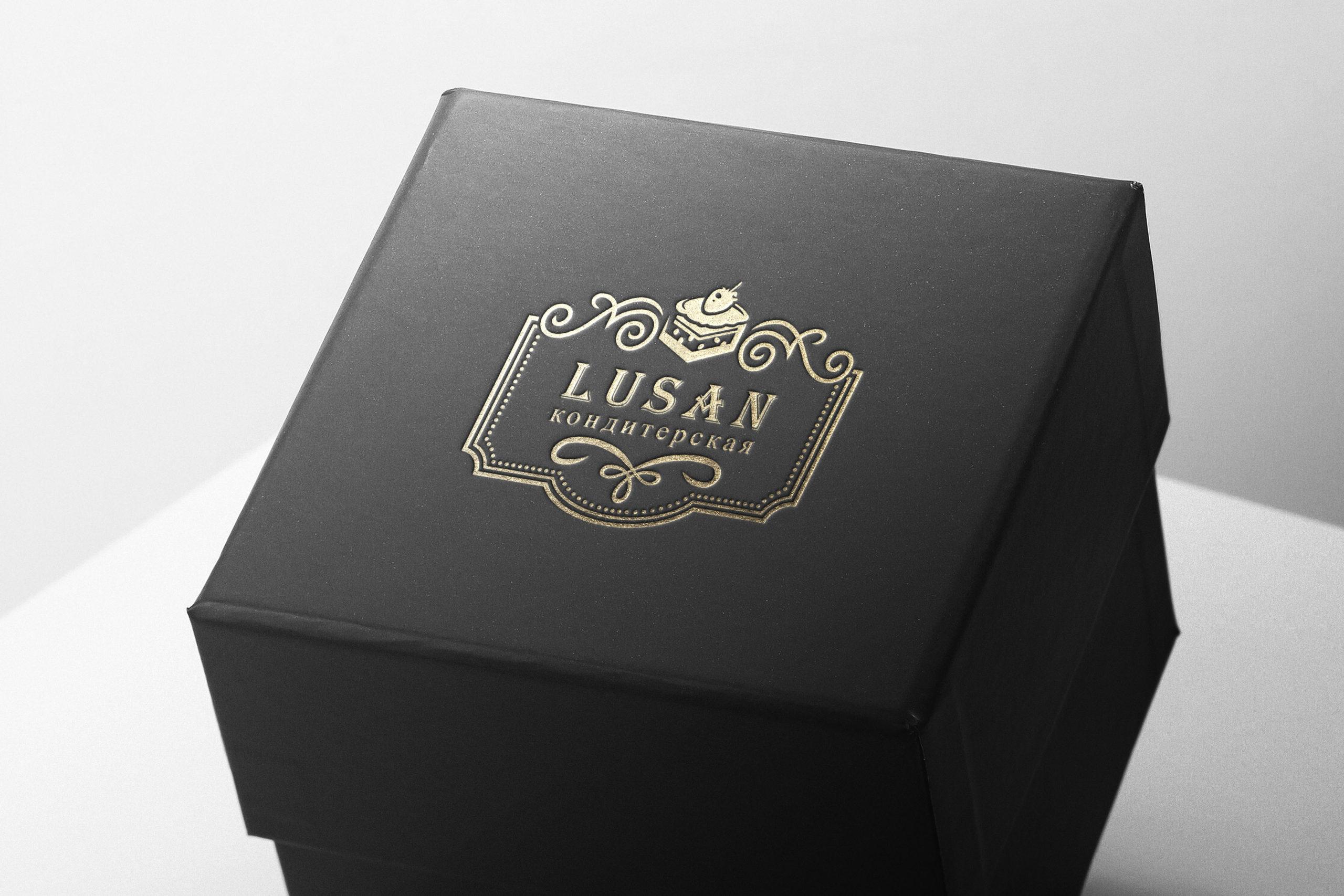 логотип кондитерской на коробке